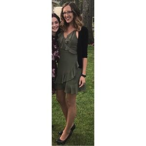 Francesca's Olive Green Dress